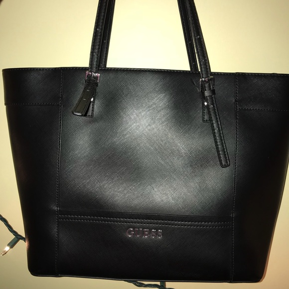 Guess Bags | Black Tote Bag Very Good Condition